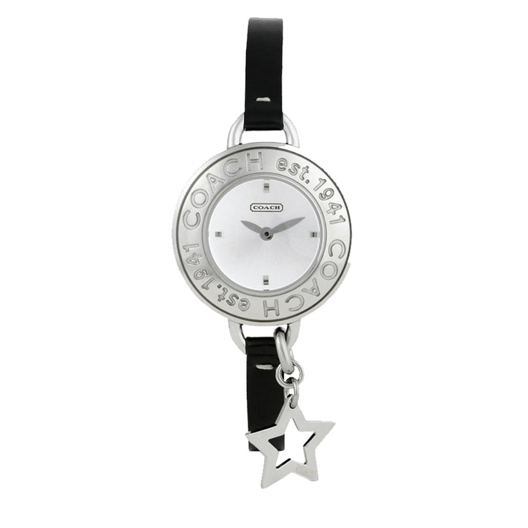 Coach Watch 14501280- Black Leather Strap with Star Charm Ladies Watch