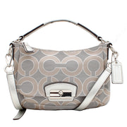 Coach Kristin Op Art Metallic East West Crossbody Bag