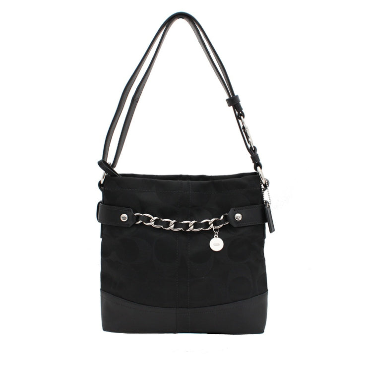 Coach Signature Sateen Chain Duffle Convertible Bag