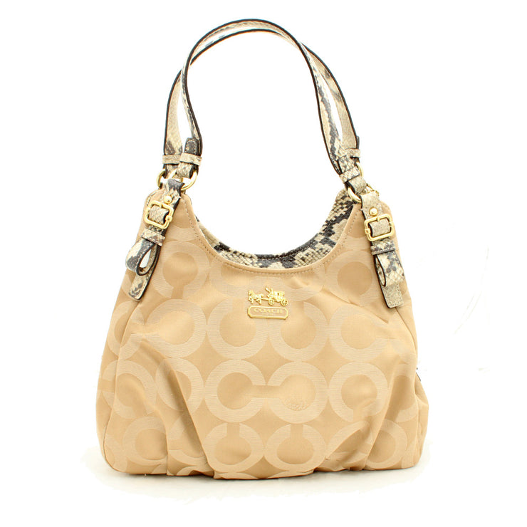 Coach Madison Op Art Sateen Maggie Bag