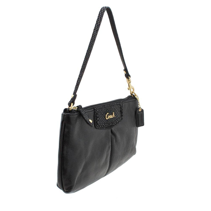 Coach Ashley Leather Large Wristlet- Black