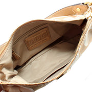Coach Signature Stripe Multi-Stripe Demi Convertible Hobo Bag- Light Khaki