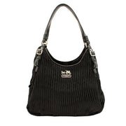 Coach Madison Gathered Signature Maggie Bag- Black