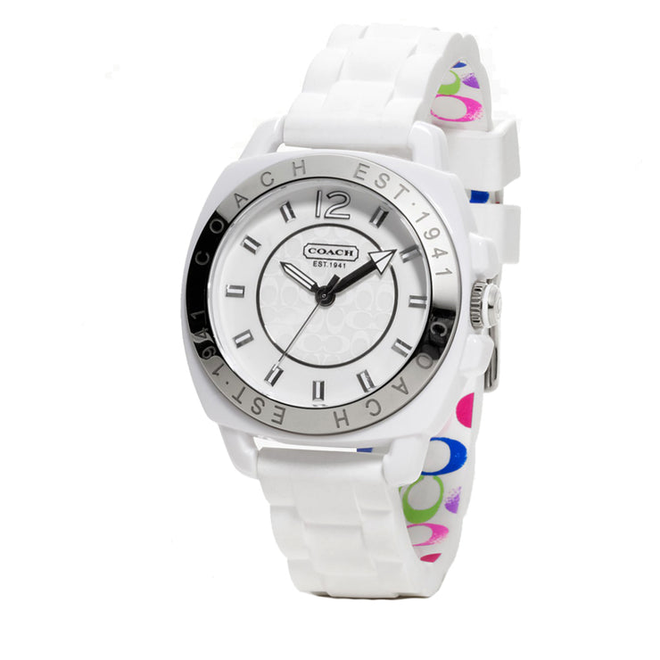 Coach Watch 14501352- White Silicon Boyfriend Ladies Watch