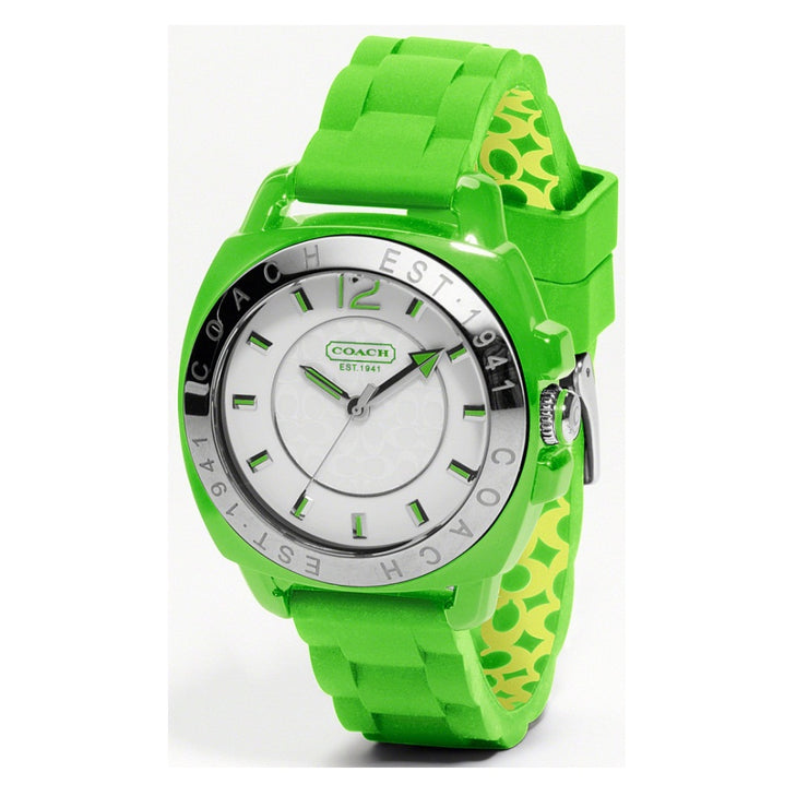 Coach Ladies' Green Silicon Boyfriend Watch
