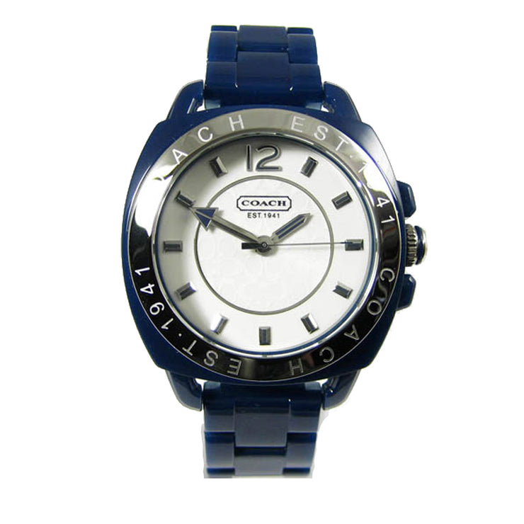 Coach Ladies' Blue Resin Boyfriend Watch