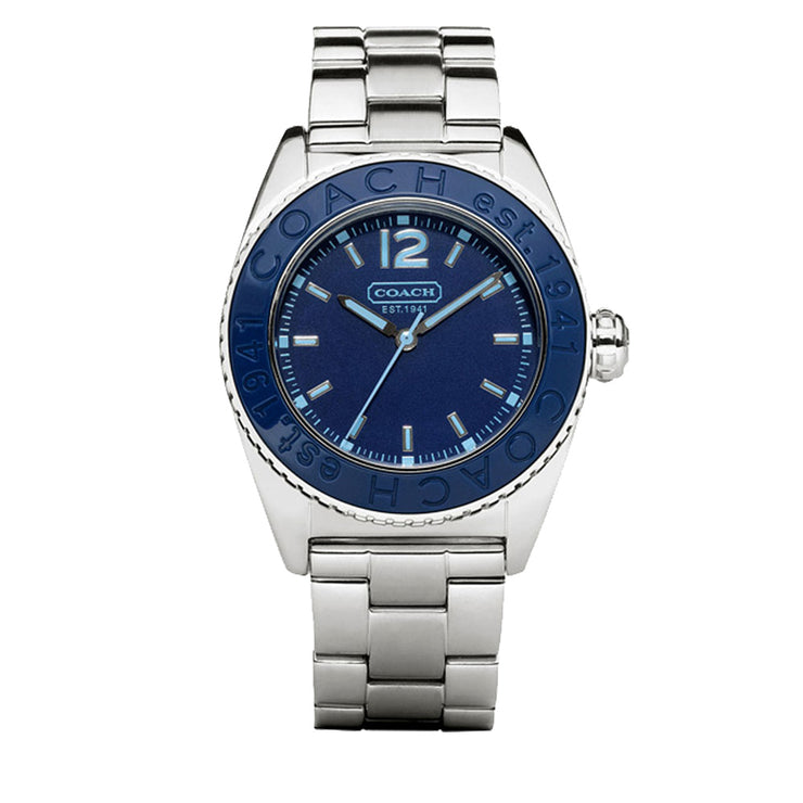 Coach Unisex Andee Stainless Steel Watch w Blue Dial