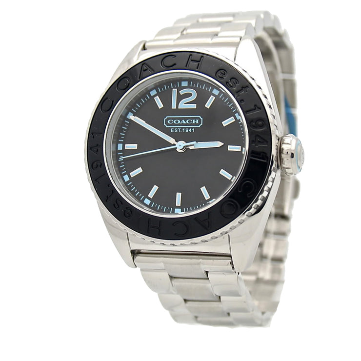 Coach Unisex Andee Stainless Steel Watch w Black Dial