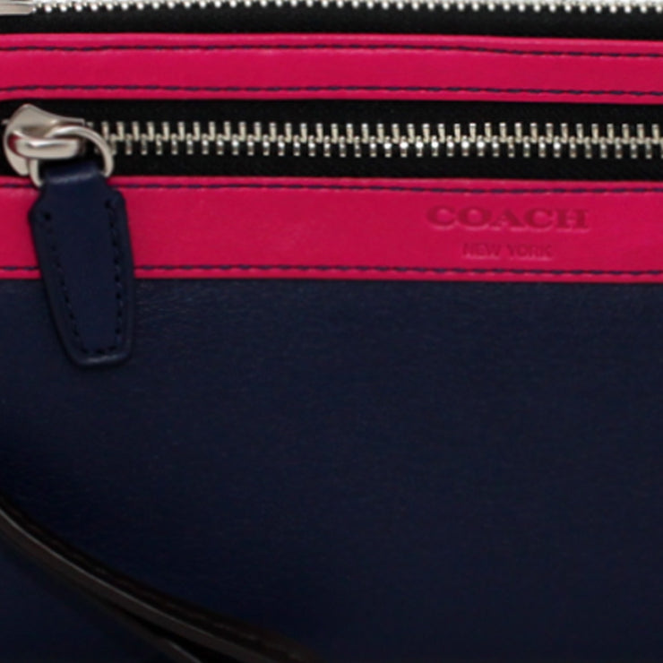 Coach Legacy Colourblock Leather Zippy Wristlet-Wallet