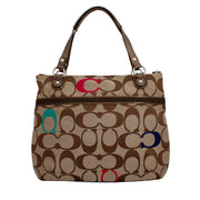 Coach Poppy Embroidered Signature C Glam Tote Bag- Khaki Multi