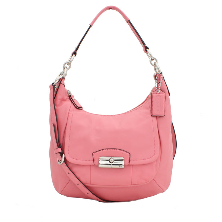 Coach Kristin Leather Hobo Convertible Bag- Rose