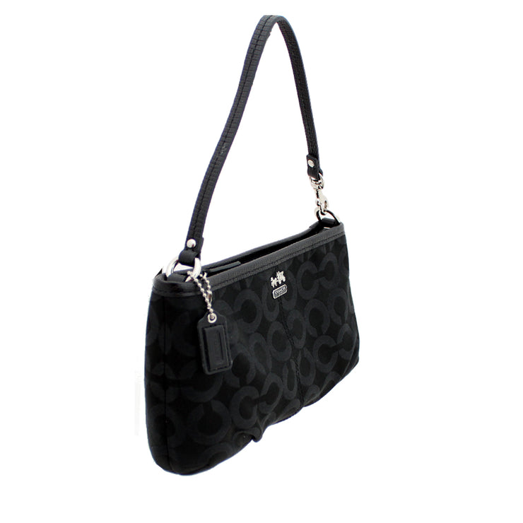 Coach Madison Op Art Sateen Convertible Bag-Wristlet- Black