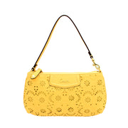 Coach Ashley Lace Leather Convertible Bag-Wristlet - Yellow