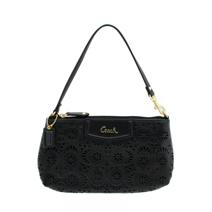Coach Ashley Lace Leather Convertible Bag-Wristlet - Black