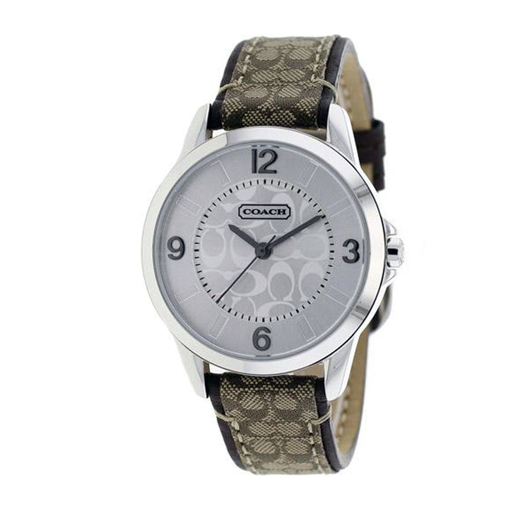 Coach Watch 14501607 Khaki Signature Leather with Small Round Dial Ladies Watch