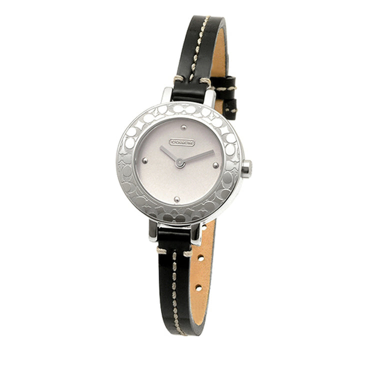 Coach Watch 14501190- Black Patent Leather Strap Ladies Watch