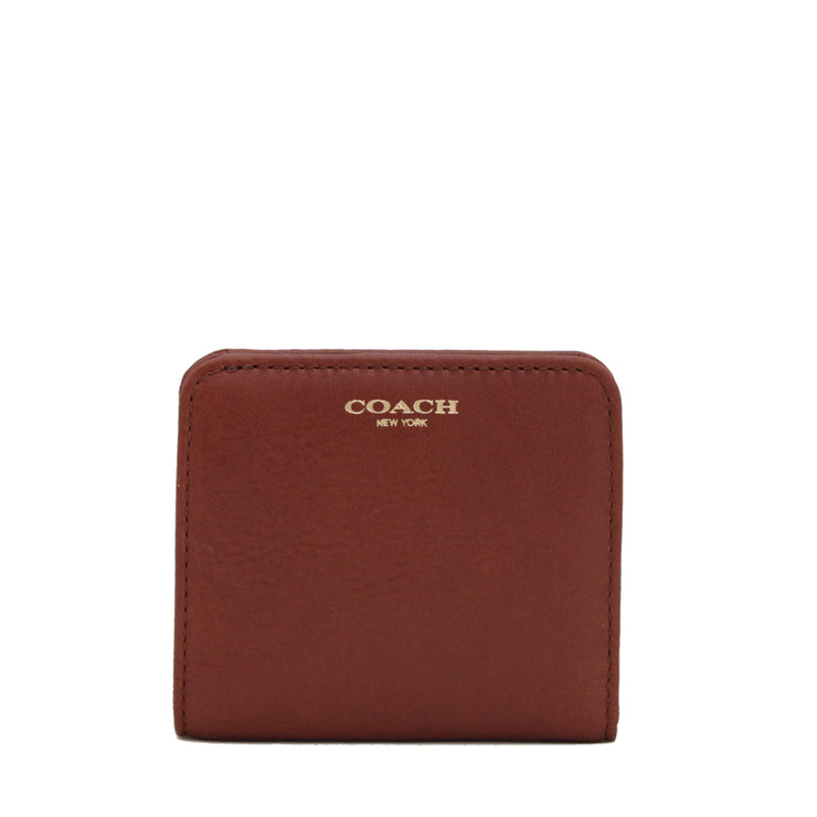 Coach 49652B Legacy Small Leather Wallet-Cognac