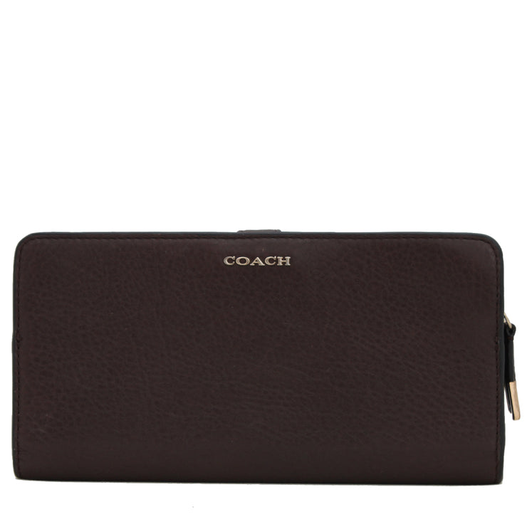 Coach 50233 Madison Skinny Leather Wallet- Midnight Oak
