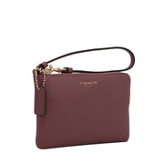 Coach 51197 Small Saffiano Leather Wristlet- Rouge