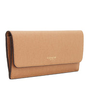 Coach 49350 Soft Wallet in Saffiano Leather- Toffee