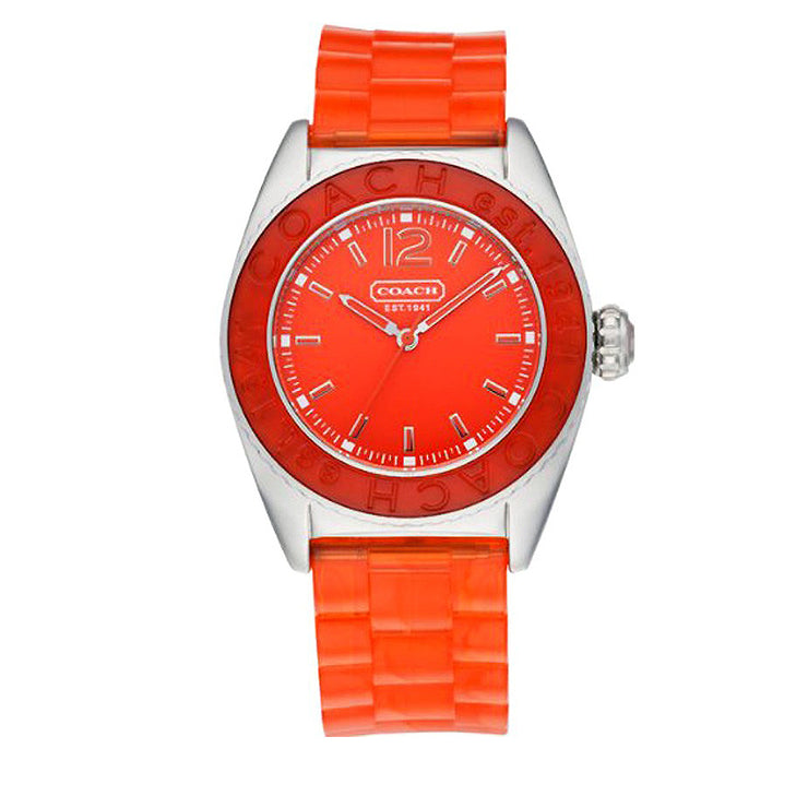 Coach Watch 14501421- Orange Silicon Jelly Strap Andee Boyfriend Ladies Watch