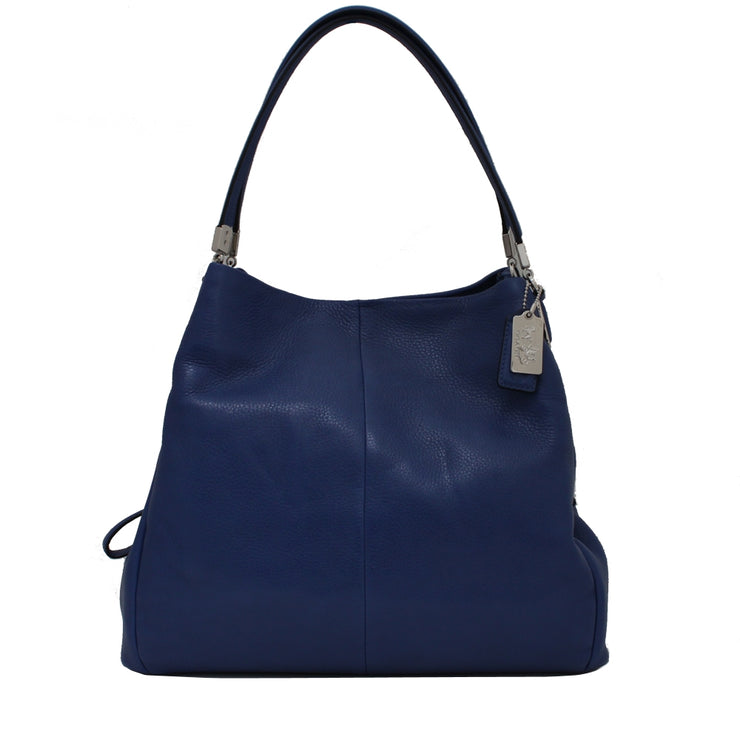 Coach Bag 26224 Madison Small Phoebe Shoulder Bag in Leather- Lacquer Blue