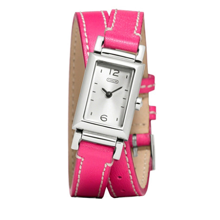 Coach Watch 14501597- Pink Leather Double Strap Ladies Watch