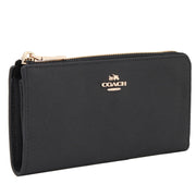 Coach 52333 Slim Zip Wallet in Embossed Textured Leather- Saddle