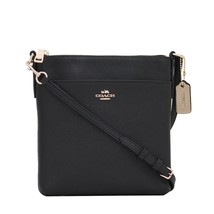 Coach Bag 52348 North South Swingpack in Embossed Textured Leather- Black
