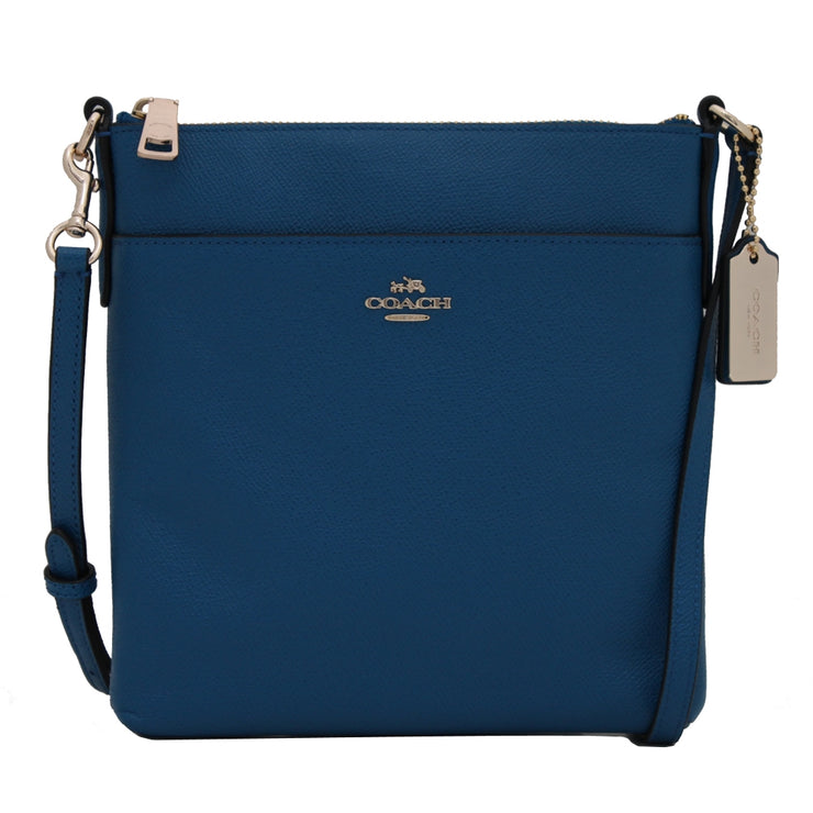 Coach Bag 52348 North South Swingpack in Embossed Textured Leather- Denim