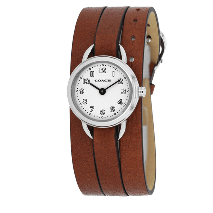 Coach Watch 14501981- Brown Leather Classic Triple Strap Ladies Watch