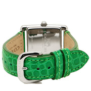 Coach Watch 14502204- Green Leather Rectangular Dial Ladies Watch