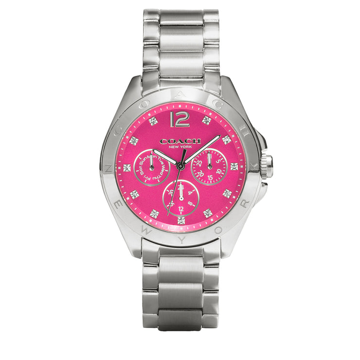 Coach Watch 14502071- Stainless Steel with Pink Round Dial Ladies Watch