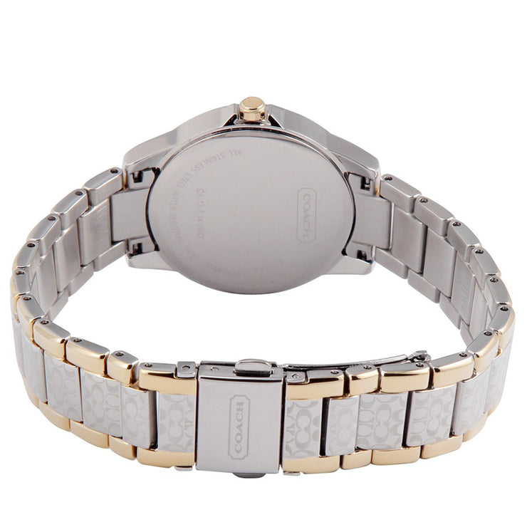 Coach Watch 14501610- Two-Toned Signature Stainless Steel with Round Dial Ladies Watch
