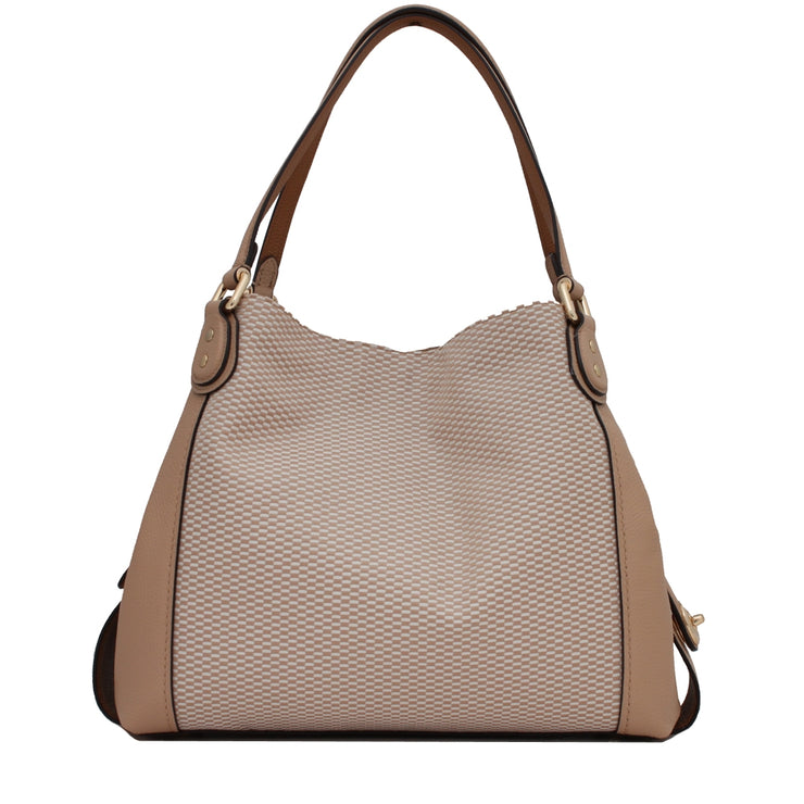 Coach 28895 Edie Shoulder Bag 31 in Legacy Jacquard- Tan