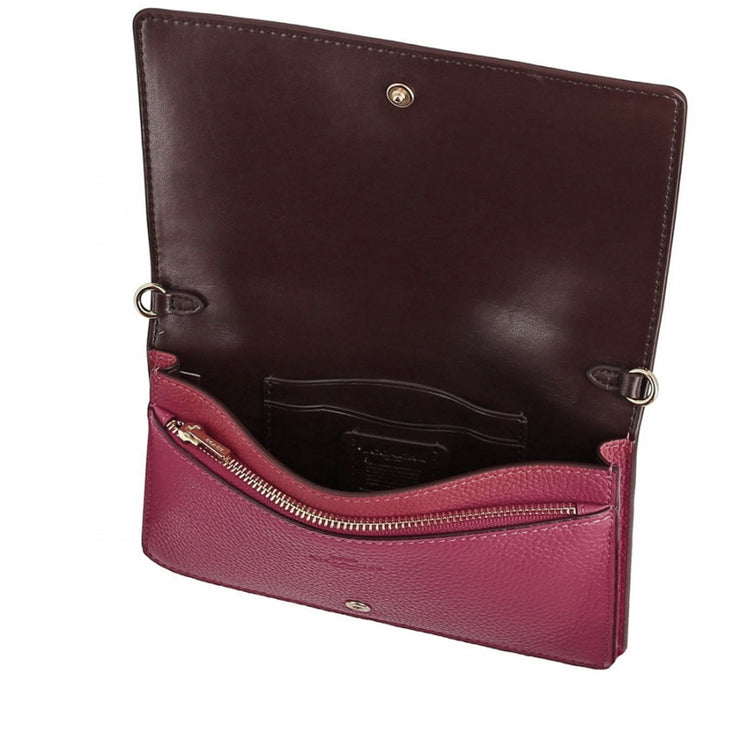 Coach 72160 Convertible Belt Bag In Colorblock- Bright Cherry Multi