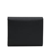 Prada 1MH176 Saffiano Leather Short Trifold Clasp Wallet- Noisette