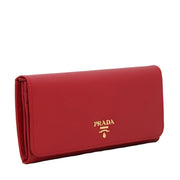 Prada Saffiano Leather Long Fold Wallet- Amethyst
