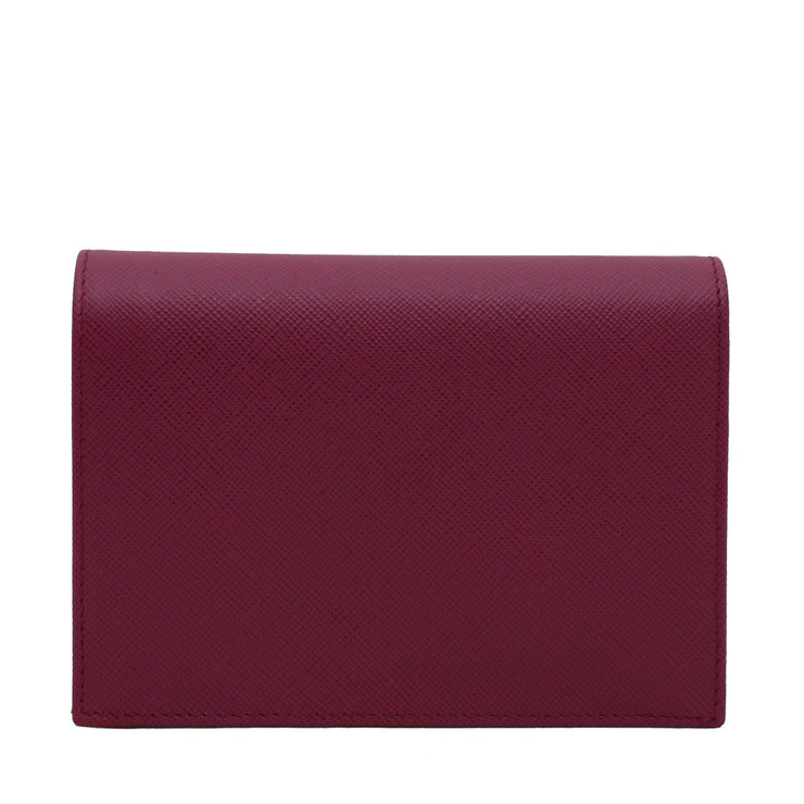 Prada 1m0668 Saffiano Leather French Wallet with Inner Flap- Amethyst