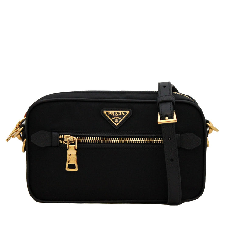 Prada Nylon Small Shoulder-Crossbody Bag- Black