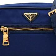 Prada Nylon Small Shoulder-Crossbody Bag- Blue
