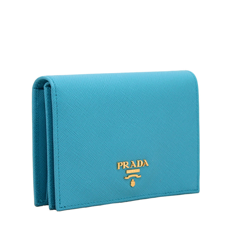 Prada Saffiano Leather French Wallet with Inner Flap- Hibiscus