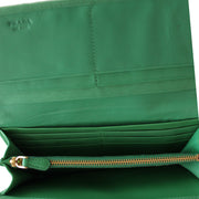 Prada Nappa Gauffre Leather Long Fold Wallet- Mint