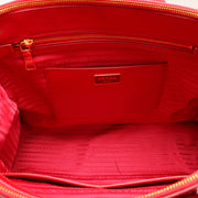 Prada Patent Saffiano Calf Leather Tote Bag- Red