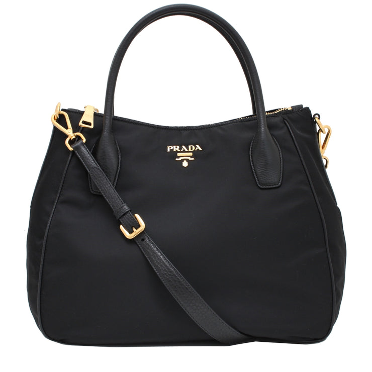 Prada BR4992 Tessuto Nylon Convertible Bag- Black