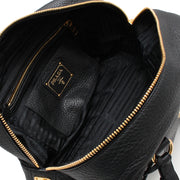 Prada B3091M Vitello Daino Leather Shoulder Tote Bag- Black