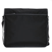 Prada 2VD166 Tessuto Nylon Messenger Bag with Flap- Black