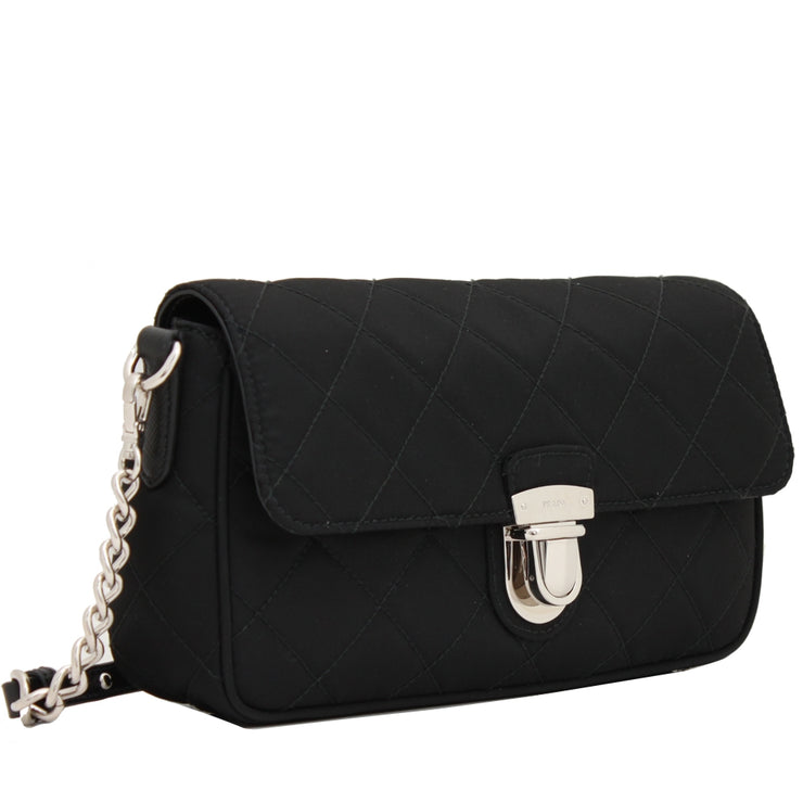Prada 1BH025 Tessuto Nylon Quilted Convertible Clutch Sling Bag