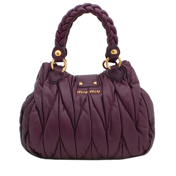 Miu Miu Matelasse Braided Handle Convertible Bag
