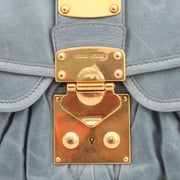 Miu Miu Shiny Calf Leather Metalasse Convertible Hobo Bag